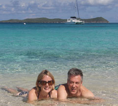 Crewed yacht charters are ideal for honeymoons