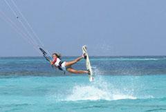 Kite-boarding is very popular