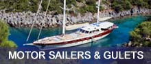 Click here for a list of motor sailers & gulets