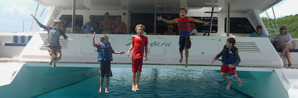 Sailing vacations are safe and fun for kids
