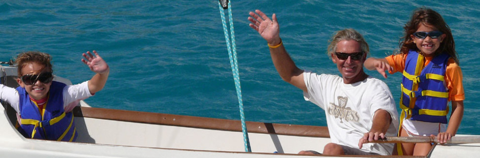 Everybody has fun on a yacht charter