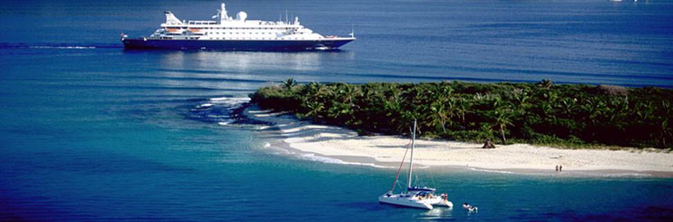 Crewed yacht vs. cruiseship