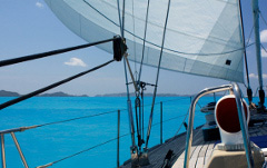 Shades of blue in the Caribbean